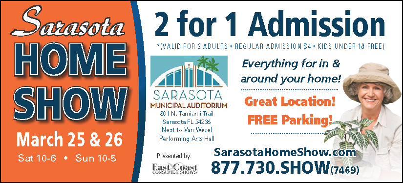 2 for 1 Coupon Sarasota Home Show
